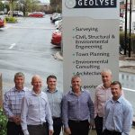Geolyse's Greg Cooper, Matthew Thorne and Martin Haege, and Premise's Patrick Brady, Anton van Velden, and Colin Duff.