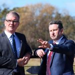 MP Greg Warren, right, pictured with Labor leader Michael Daley, has delivered a withering assessment of the City Deal following the release just before Chrismas of an implementation plan.