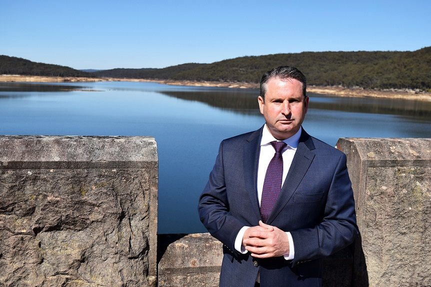 MP Greg Warren at Cataract Dam late last year.