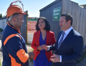 Airport construction jobs should go to locals, say Labor's Greg Warren, right, and skills spokesperson Prue Car.