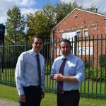 MP Greg Warren with the shadow treasurer Ryan Park at Campbelltown East Public School.