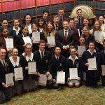 Greg Warren with Campbelltown high school student leaders-elect