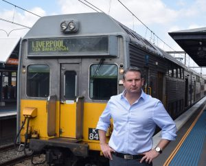 Mr Warren sees train services to Macarthur as the government's biggest failure