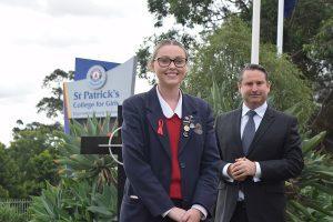 Payton Salter and Campbelltown MP Greg Warren