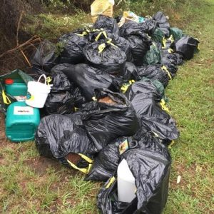 Hydro house leftovers dumped at Minto Heights