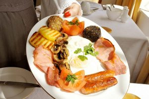 Irish breakfast on St Patrick's Day