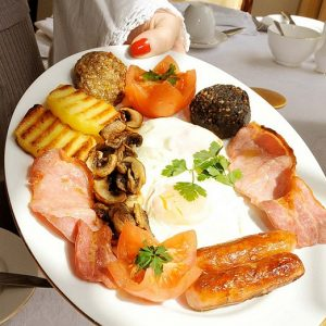 St Patrick's Day: Irish breakfast goes well with a Guinness