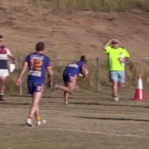 Kangaroos hopping with delight after making the finals