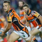 Luke Brooks returns to the Wests Tigers.