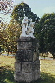 One of the terracotta statues in Maryfields.
