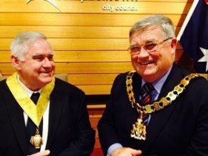 Cr Ted Rowel was deputy mayor to Cr Paul Lake in 2014-15