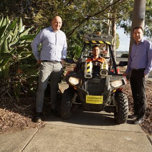 Quad bikes with GPS tracking to inspect town's 510km of footpaths