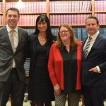Mayor George Brticevic, council general manager Lindy Deitz with Meg Oates and MP Greg Warren