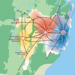 three cities in Greater Sydney