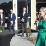Camden mayor Lara Symkowiak at the official opening of Michelia Club