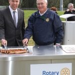 Cr George Brticevic and Rotary Club of Ingleburn President Bill Salter