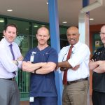 Campbelltown Emergency Department doctors and nurses who are taking part in this year's Movember.
