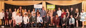 The 2018 finalists in the mwlp work placement awards.