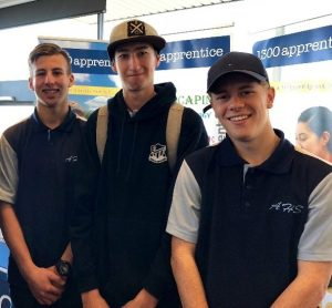 Ambarvale High students Noah Miskell, Tim Beaton and Noah Hall at the mwlp expo