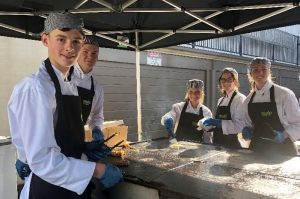 Hospitality students from Broughton Anglican College at this year's mwlp expo.