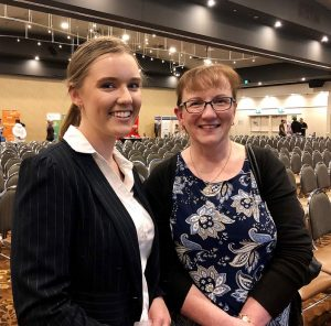 Gracie and Karen Burton the recent MWLP Linking Youth Jobs for Youth night at Wests Leagues Club.