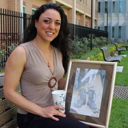 Marianna Ioanou, winner of the South Western Sydney Local Health District's Paint Your Path art competition.