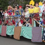 Tartan is Groovy was named best float of this year's Festival of Fisher's Ghost twilight parade.