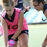 SWSAS girls such as Hannah Fielding, decked in pink bibs, were a stand-out at this year's Your Local Club Academy Games in Newcastle.
