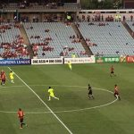 There was a small crowd but the energy of the RBB created a great atmosphere last Tuesday at Campbelltown Stadium.