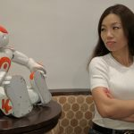 Women are more cautious with robots that stare at them
