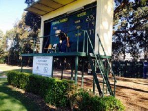 The scoreboard attendant at Rosedale Oval