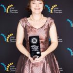 Serena Ryan with her small business award