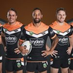 Elijah Taylor, Josh Reynolds, Benji Marshall, Chris Lawrence and Russell Packer will share leadership duties at Wests Tigers this season.