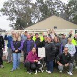 Staff and volunteers of the Macarthur Centre for Sustainable Living celebrate their award honour.