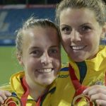 2007 and 2008 South West Sydney Sport Academy athletes of the year, Hockeyroos Emily Smith and Kelli White