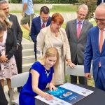 Mayor Lara Symkowiak signs the Western Sydney City Deal