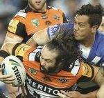 Aaron Woods was superb tonight against the Bulldogs.