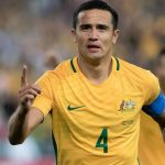 Socceroo legend Tim Cahill, who is taking part in a fourth World Cup.