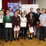 Victor Chang science award winners with Mayor George Brticevic.
