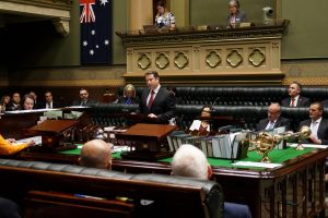 Greg Warren addressing the NSW parliament.