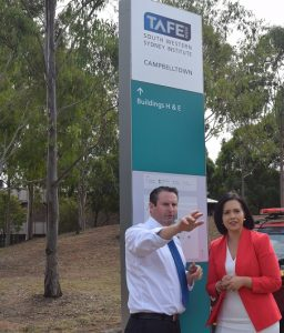 Fighting cuts to TAFE.