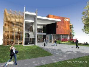 artist's impression of the wellness centre