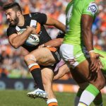 West Tigers fullback James Tedesco against Canberra last season.
