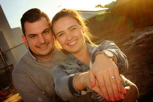 Luke Mirabilio proposed to Maddie Butcher on the block of land they bought at Denham Court.