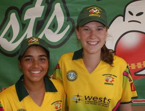Young stars Dharmini Chauhan, left, and captain Stephanie Ellsmore